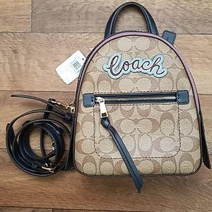Coach Andi Mini Backpack Signature Canvas NWT
